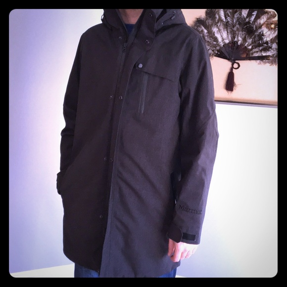 NJORD DOWN INSULATED LONG WINTER JACKET XL L $425 MARMOT M